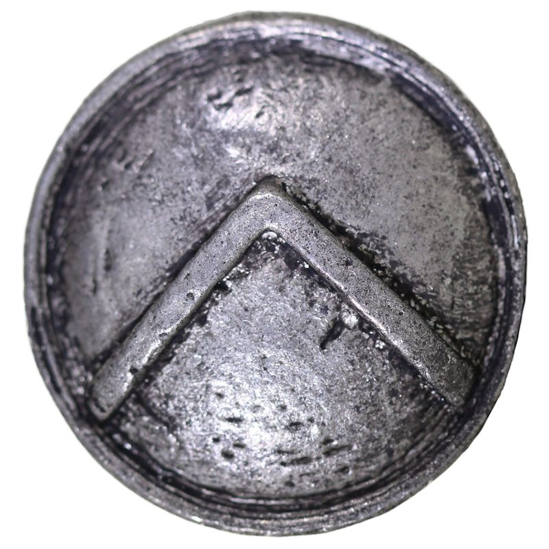 Spartan Shield Bead in Pewter by Marco Magallona