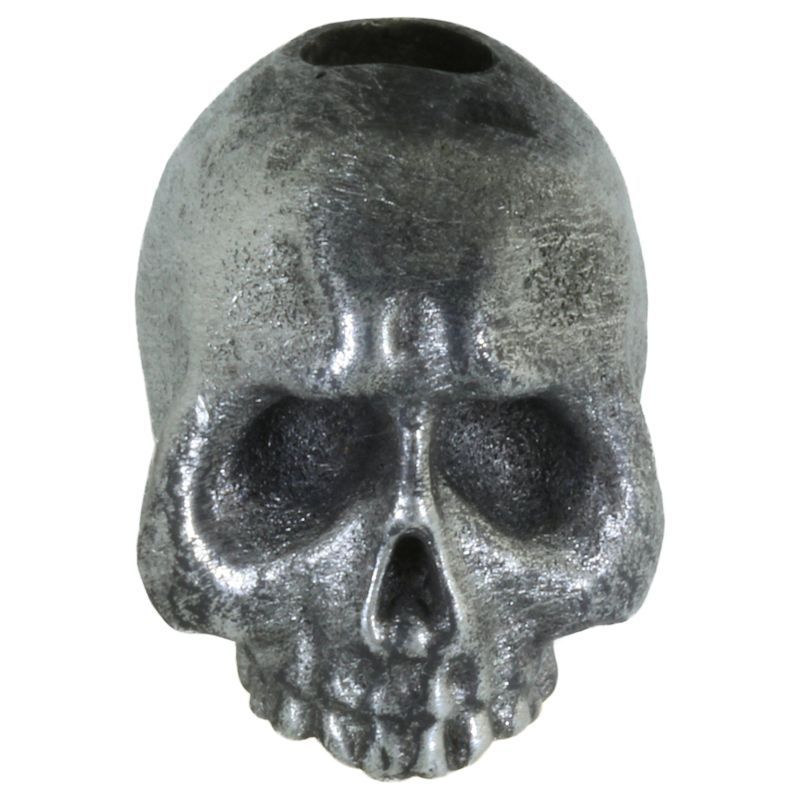 Sad (Jawless) Skull Bead in Pewter by Marco Magallona