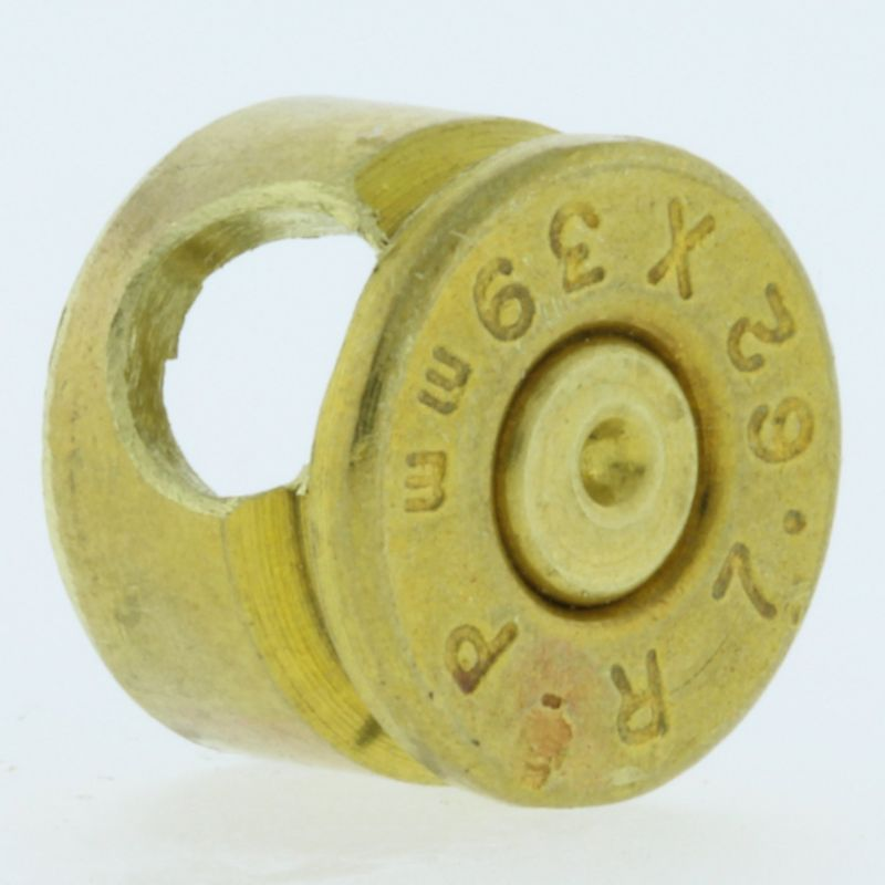 7.62X39MM Bullet Casing Bead In Brass With Brass Primer By Bullet Bangles
