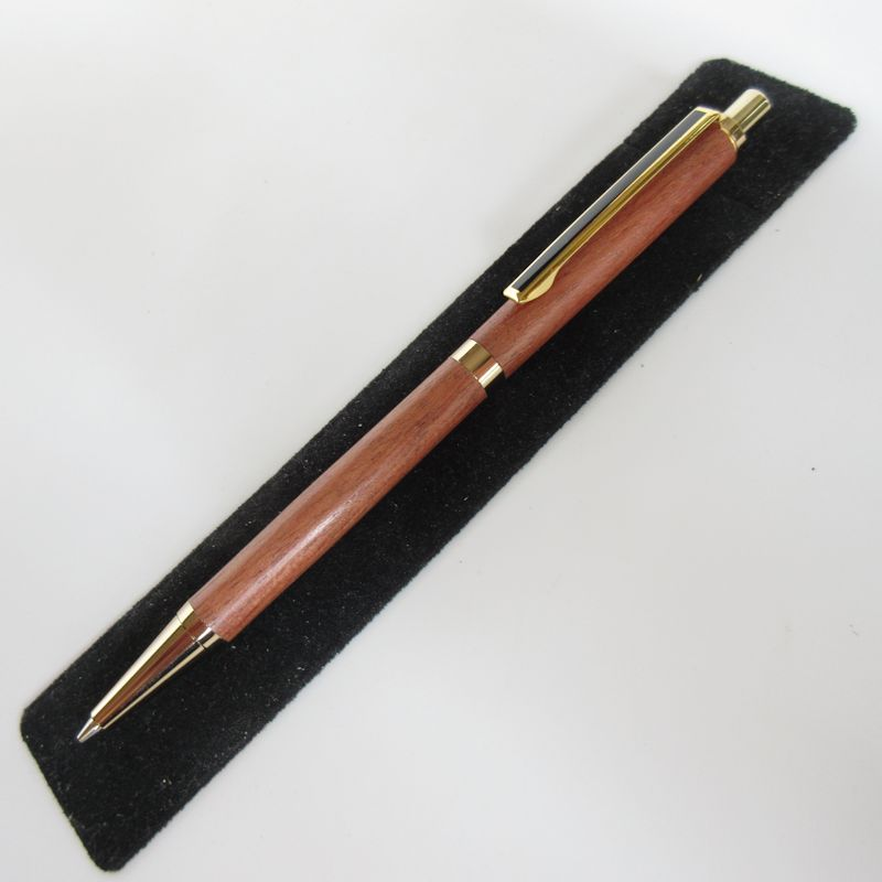 Slimline Pencil in (East Indian Rosewood) 24kt Gold