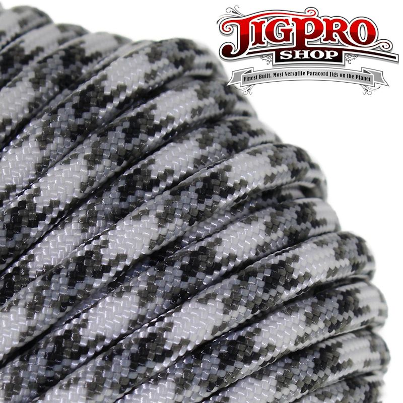 Snow Camo 550# Type III Paracord 100' C25