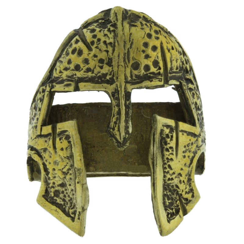 "Spartan Helmet In Brass By Maker ""Aristarch Garilla\"""