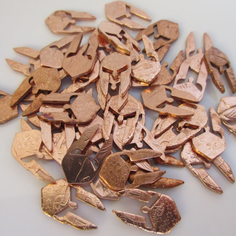 Spartan Nuggets from.999 Pure Copper (6 Pieces)