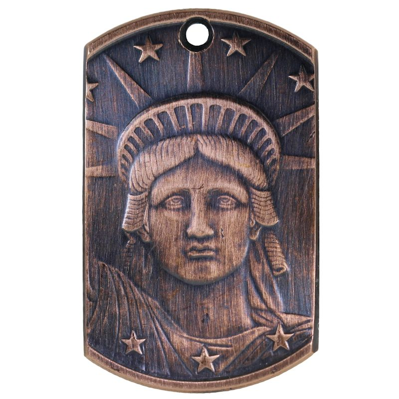 Liberty Head Copper Dog Tag Necklace