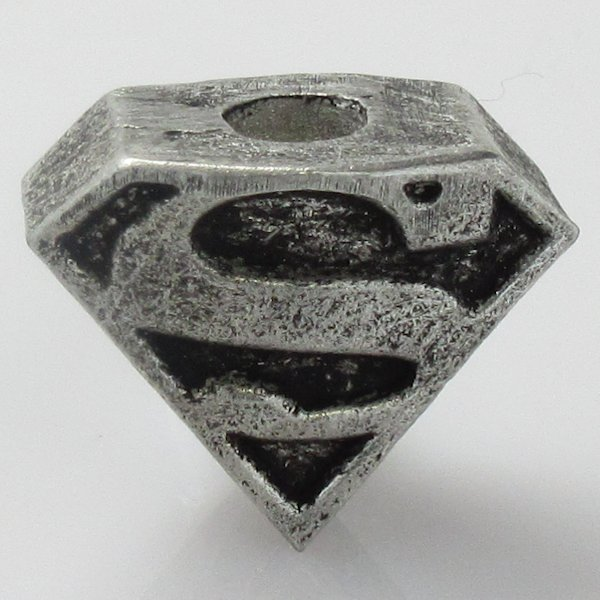 Superman Shield Bead in Pewter by Marco Magallona