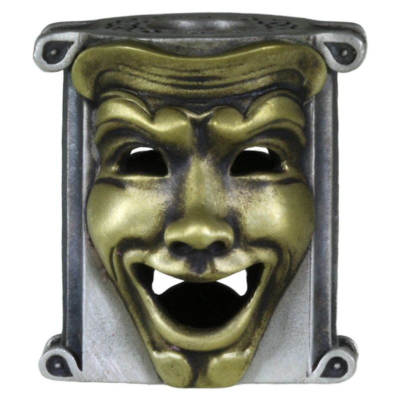 Theatrical Mask (.925 Sterling Silver Base - Brass Masks) By Techno Silver