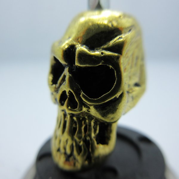 Thulsa Skull In Gold Finish By Bad Azz Beads