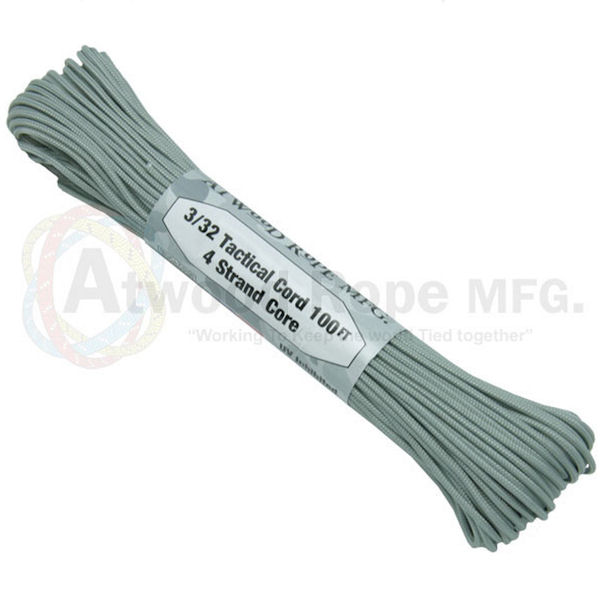 "275 Grey Tactical Cord 3/32"" x 100' TS12"