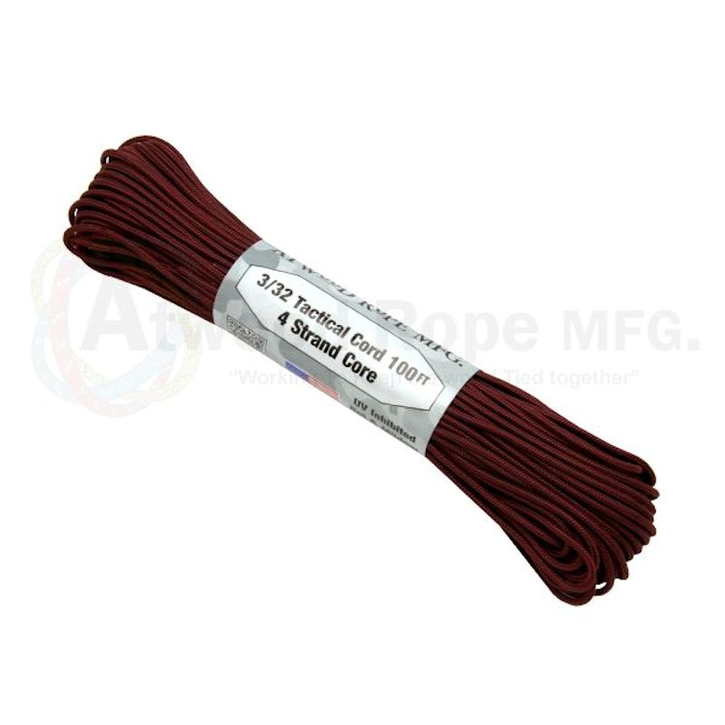 "Maroon 275# Tactical Cord 3/32"" x 100' TS13"