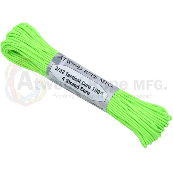 "275 Neon Green Tactical Cord 3/32"" x 100' TS18"
