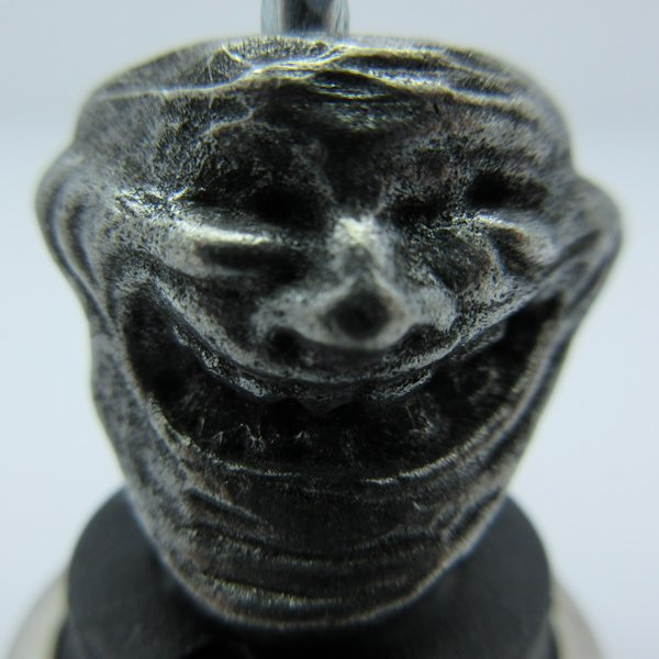 Troll Face Bead in Pewter by Marco Magallona