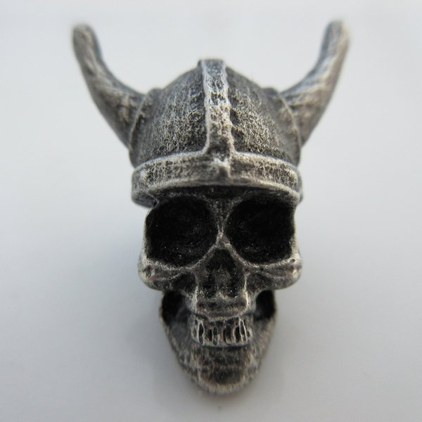 Viking Skull Bead in Pewter by Marco Magallona
