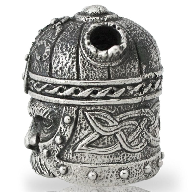 Viking Head in Nickel Silver By Alloy Army of Eurasia