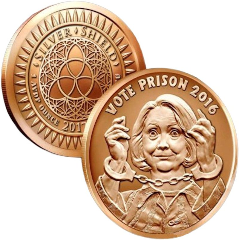 Vote Prison 2016 #21 (2017 Silver Shield Mini Mintage) 1 oz .999 Pure Copper Round