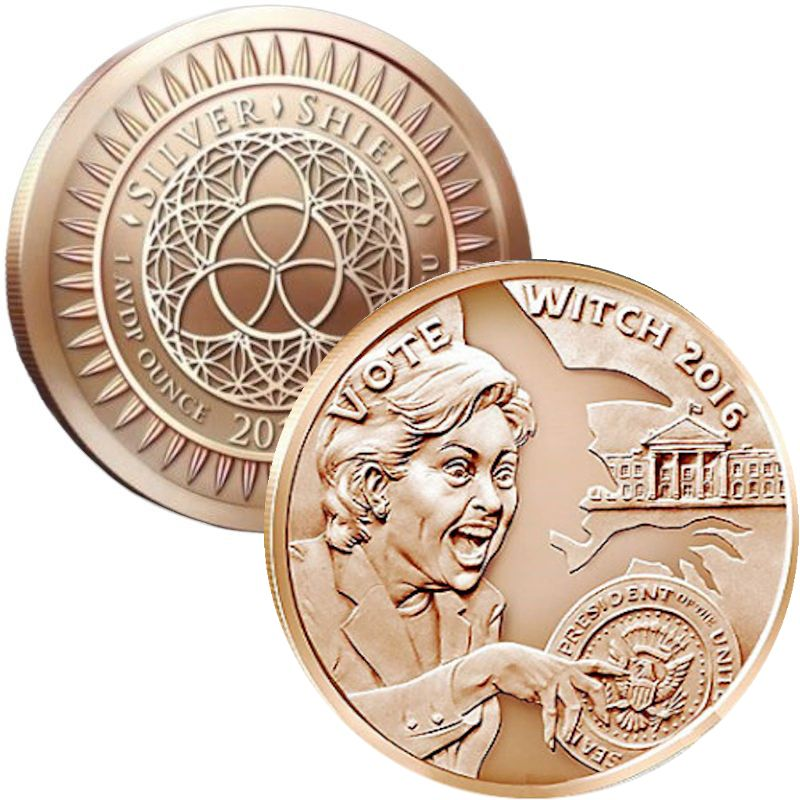 Vote Witch 2016 #15 (2017 Silver Shield Mini Mintage) 1 oz .999 Pure Copper Round