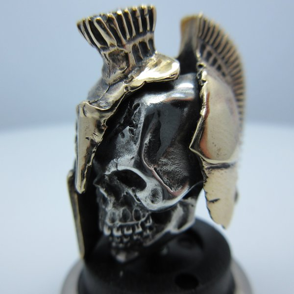 Spartan in .925 Sterling Silver and Bronze by GD Skulls