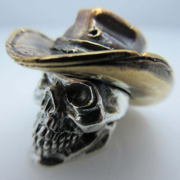 Cowboy in .925 Sterling Silver and Bronze by GD Skulls