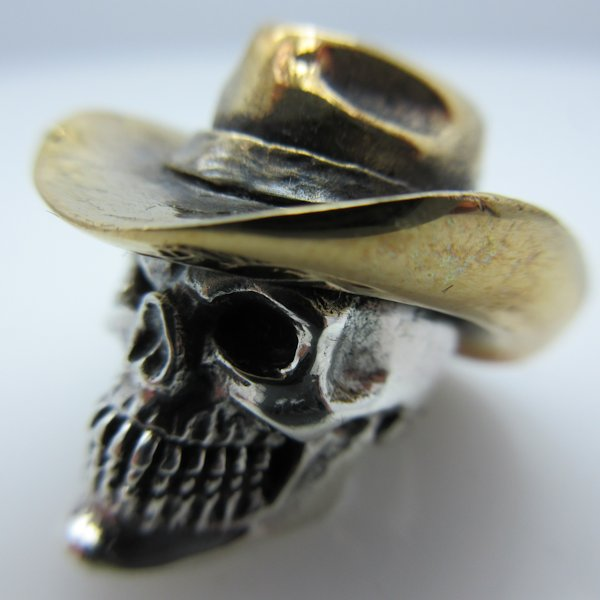 Cowboy 2 in .925 Sterling Silver and Bronze by GD Skulls