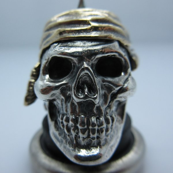 Indian #1 in .925 Sterling Silver and Bronze by GD Skulls
