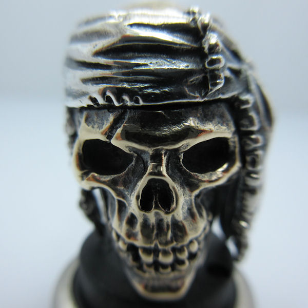 Indian #2 in .925 Sterling Silver and Bronze by GD Skulls