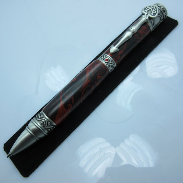 Wild Card Twist Pen in (Solar Eclipse Acrylic) Antique Pewter