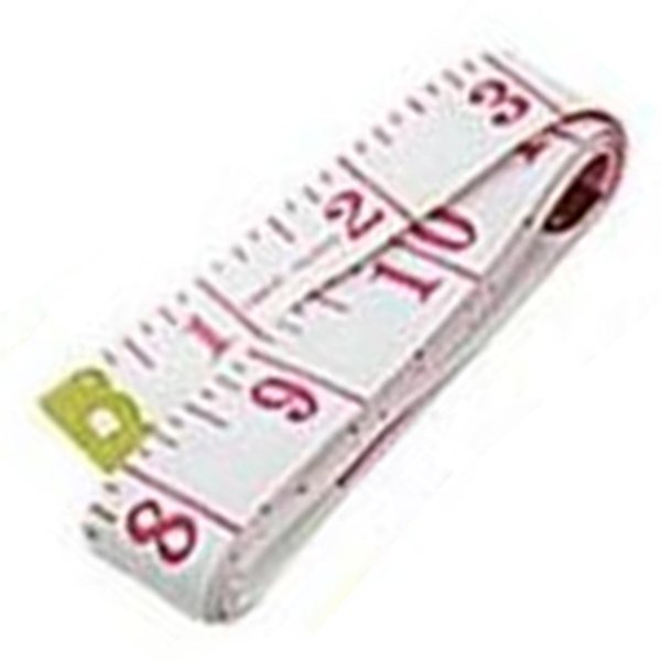"60"" Soft Flexible Non-Stretching Measuring Tape Ruler (White/Pink)"