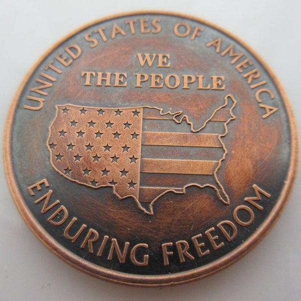 We The People 1 oz .999 Pure Copper Coin (Black Patina)