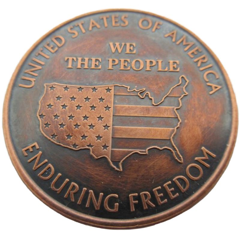 We The People (Enduring Freedom) 1 oz .999 Pure Copper Round (Black Patina) (Preston Mint)