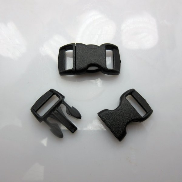 "3/8"" Wienerlock Brand Curved Black Side Release Buckles"