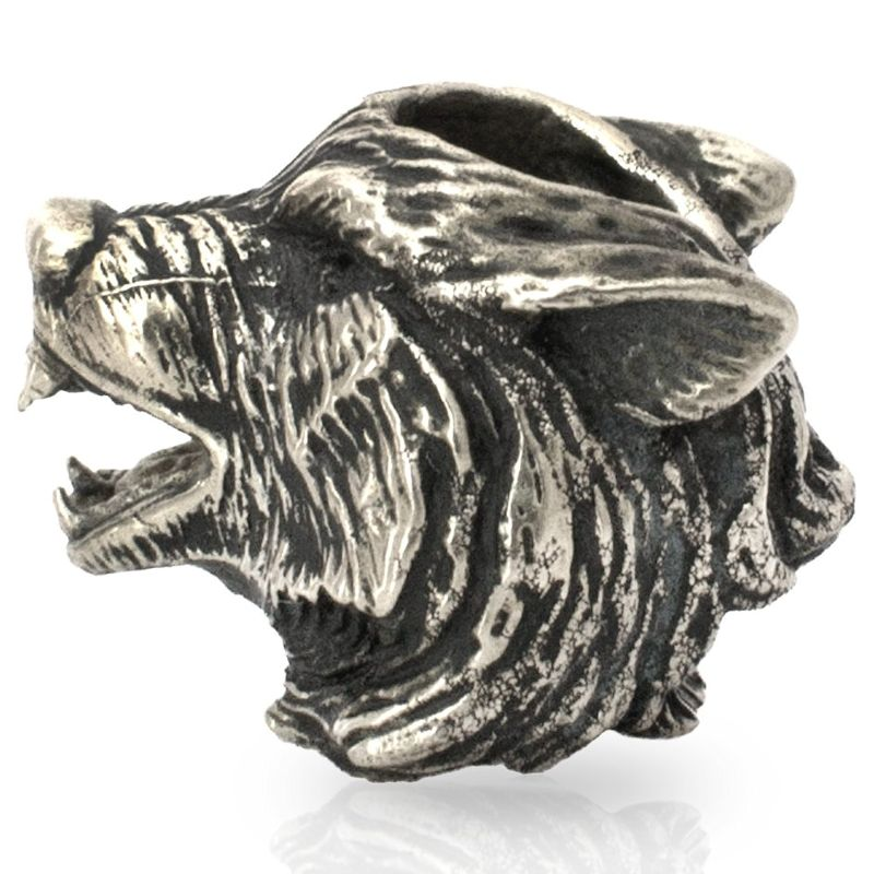 Wolf Bead in Nickel Silver by Russki Designs