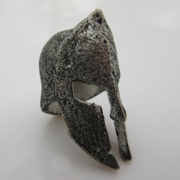 Spartan Helmet Bead in Pewter by Marco Magallona