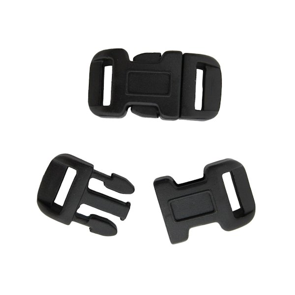 "1/2"" Curved Black Side Release Buckles"