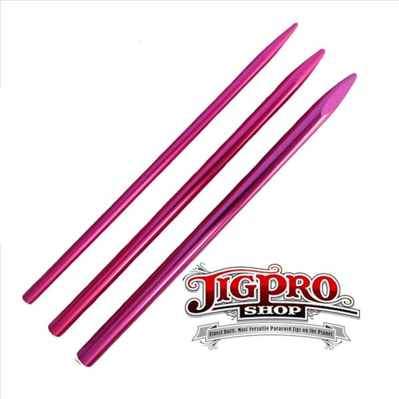 3 Different Size Pink Lacing Needles