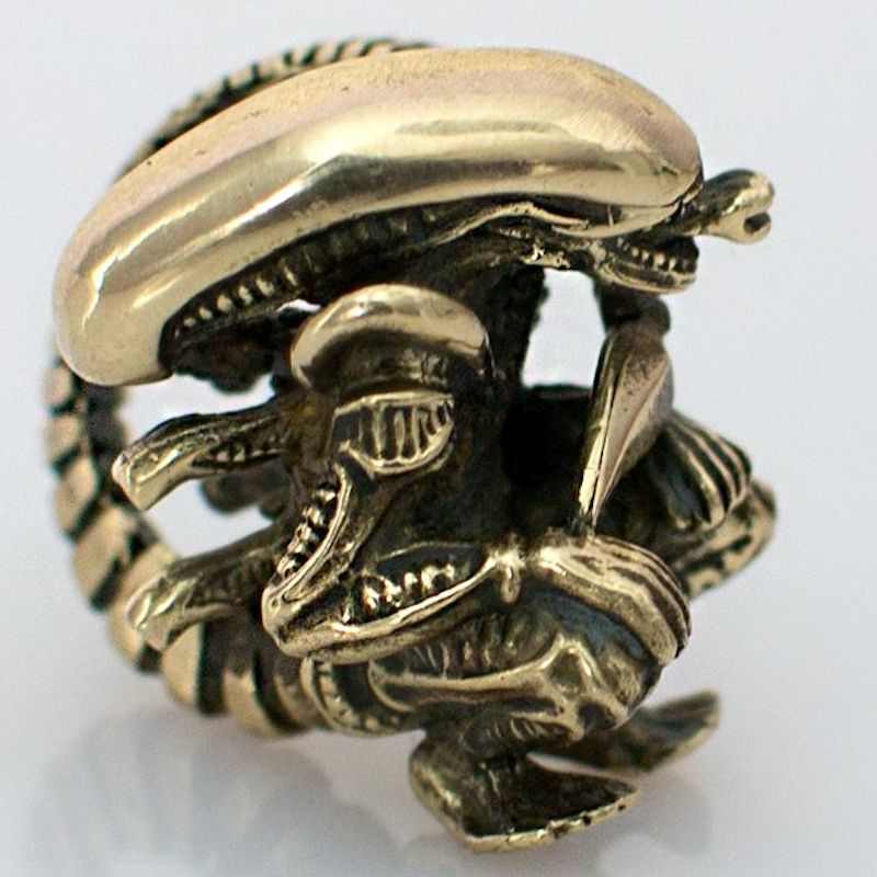 Alien with Tail Bead in Brass by Russki Designs