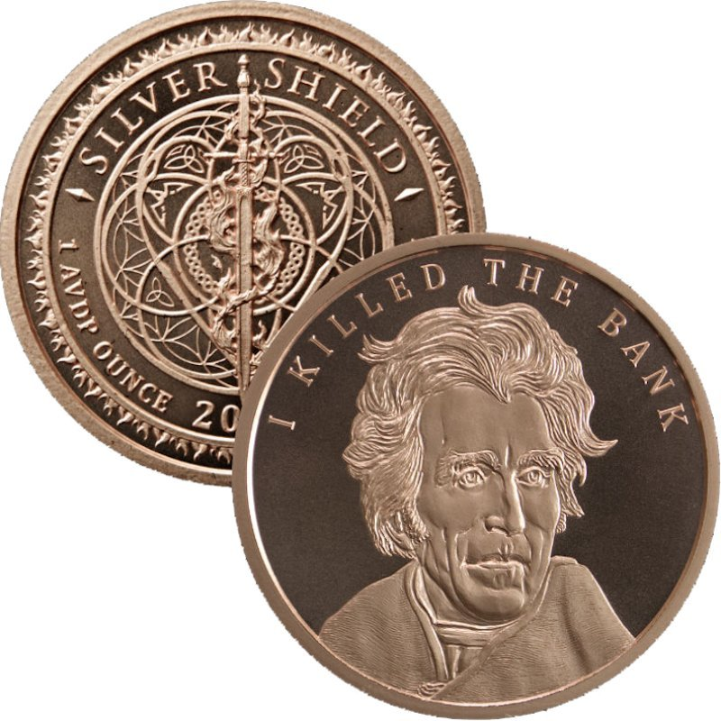 Andrew Jackson #86 (2018 Silver Shield - Mini Mintage) 1 oz .999 Pure Copper Round