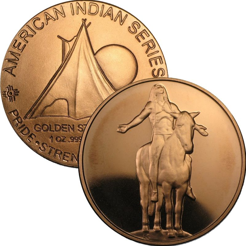 Appeal To The Great Spirit 1 oz .999 Pure Copper Round