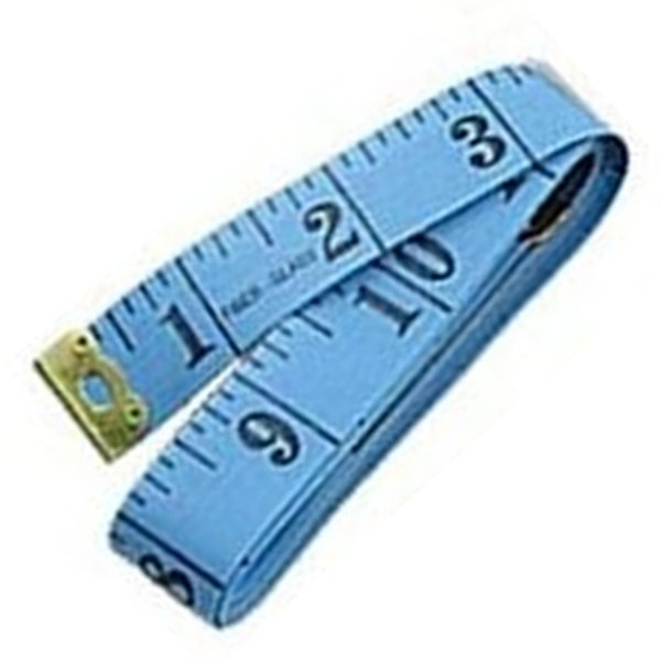 "60"" Soft Flexible Non-Stretching Measuring Tape Ruler (Blue/Black)"