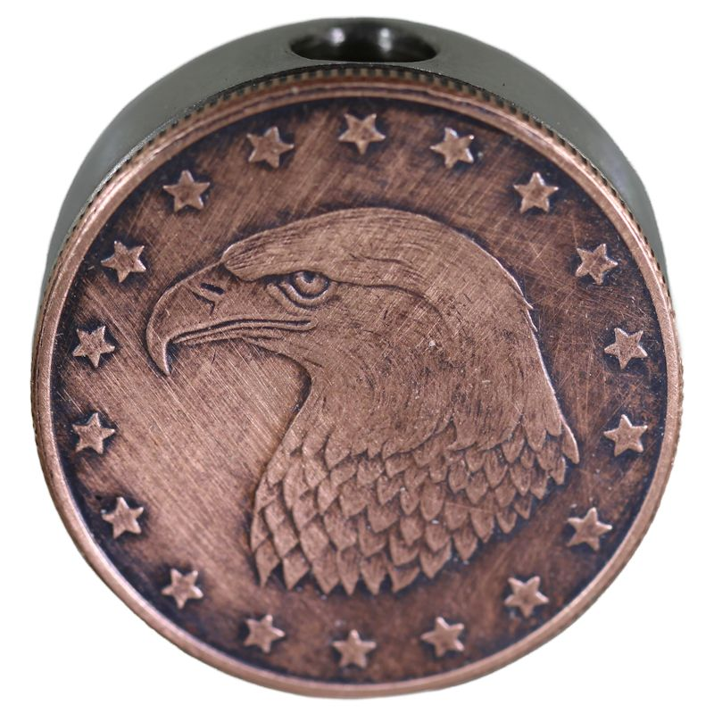 Bald Eagle Design In Copper Black Patina Stainless Steel Core Lanyard Bead By Barter