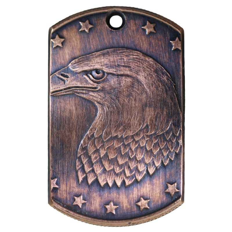 Bald Eagle Copper Dog Tag Necklace