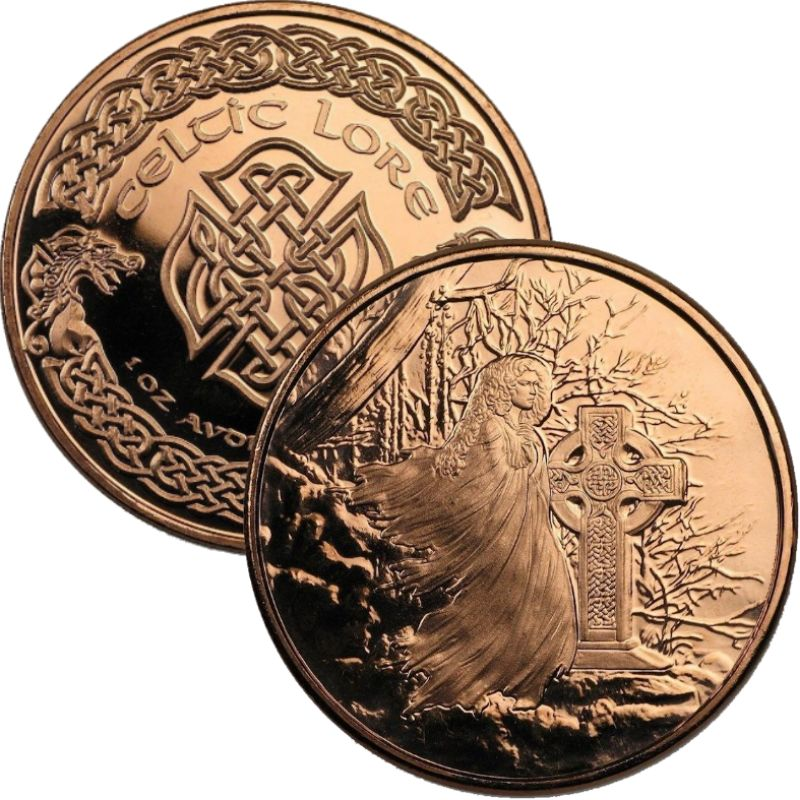 Banshee 1 oz .999 Pure Copper Round (5th & Final Design of the Celtic Lore Series)