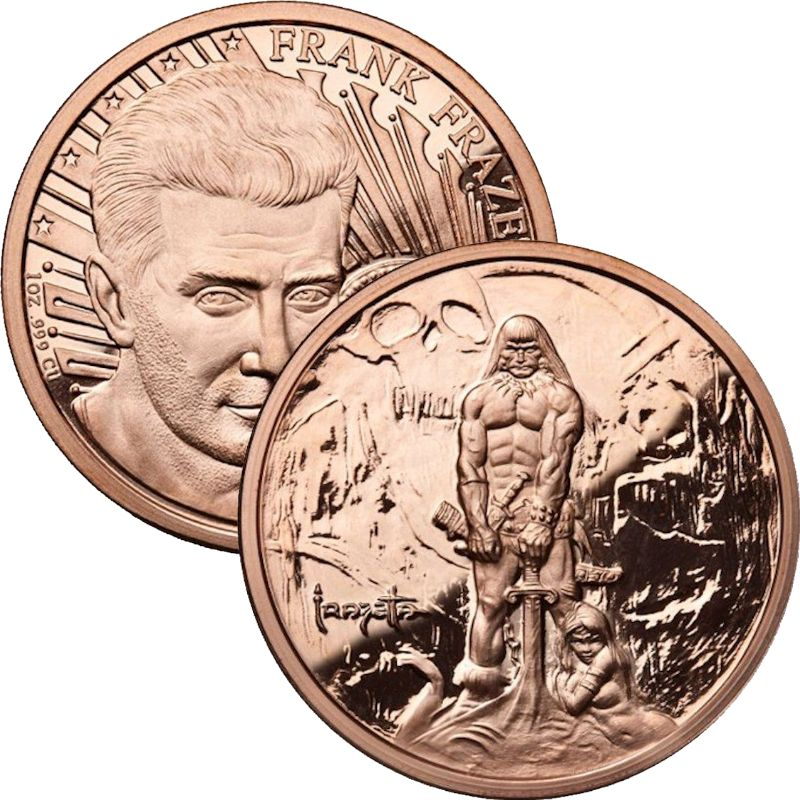 Barbarian 1 oz .999 Pure Copper Round