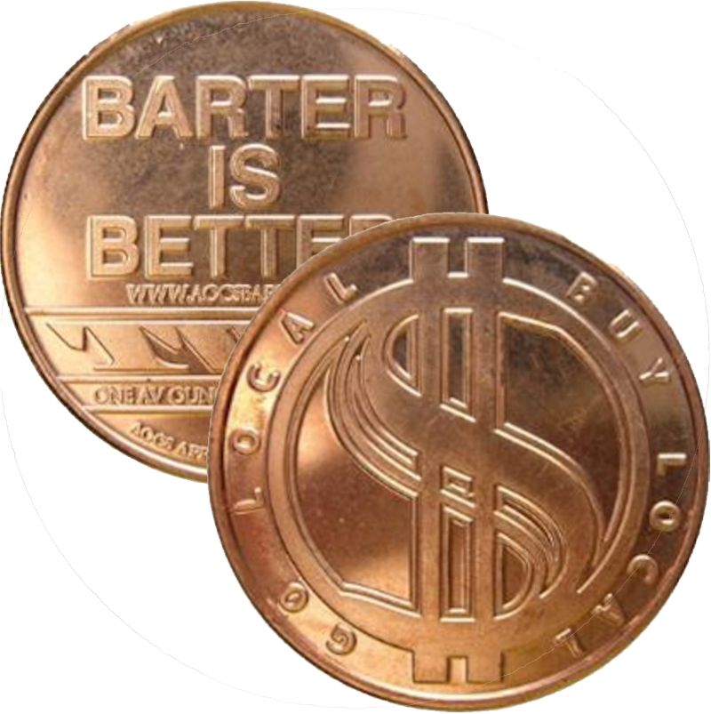 Barter Is Better (AOCS) (2010) 1 oz .999 Pure Copper Round