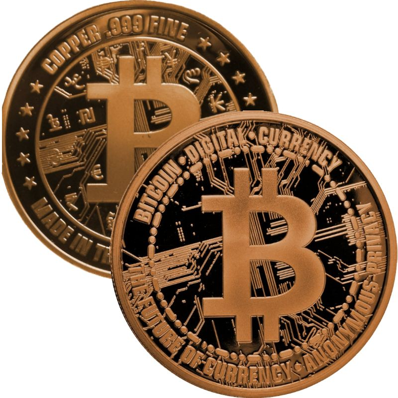 Bitcoin (Private Mint) 1 oz .999 Pure Copper Round