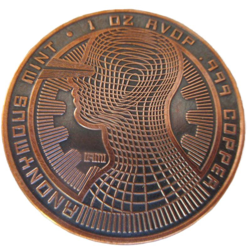 Bitcoin - The Guardian 1 oz .999 Pure Copper Round (Black Patina)