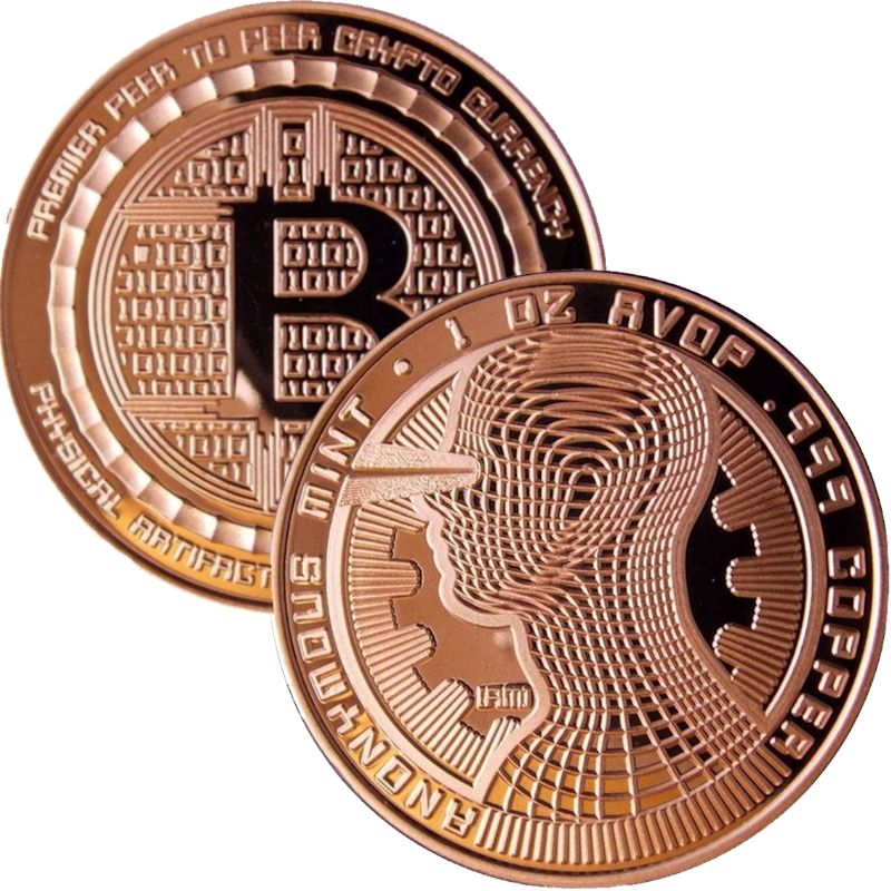 Bitcoin - The Guardian 1 oz .999 Pure Copper Round