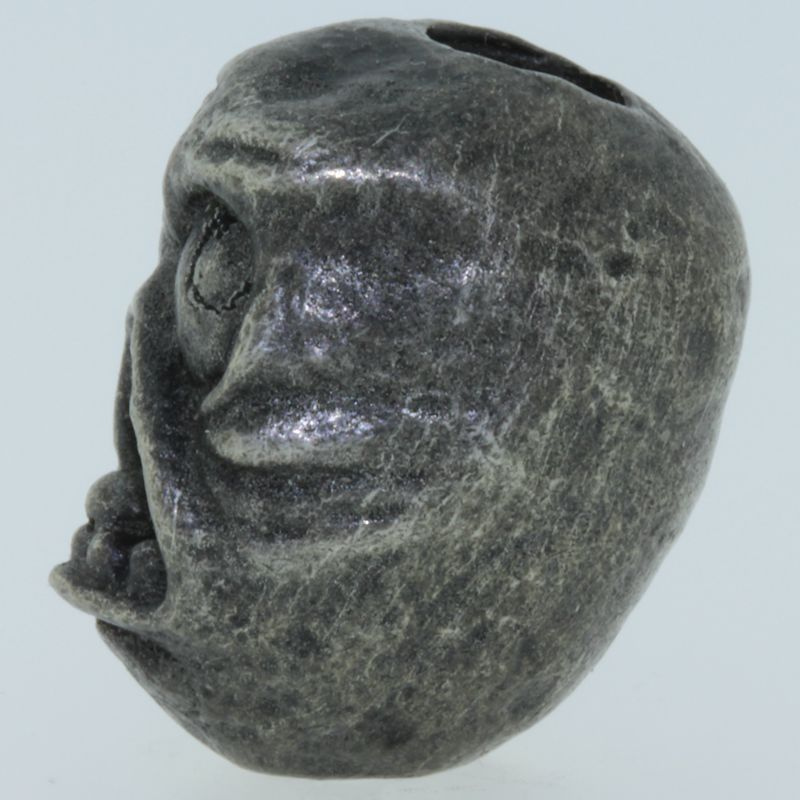 Rage Face Bead in Pewter by Marco Magallona