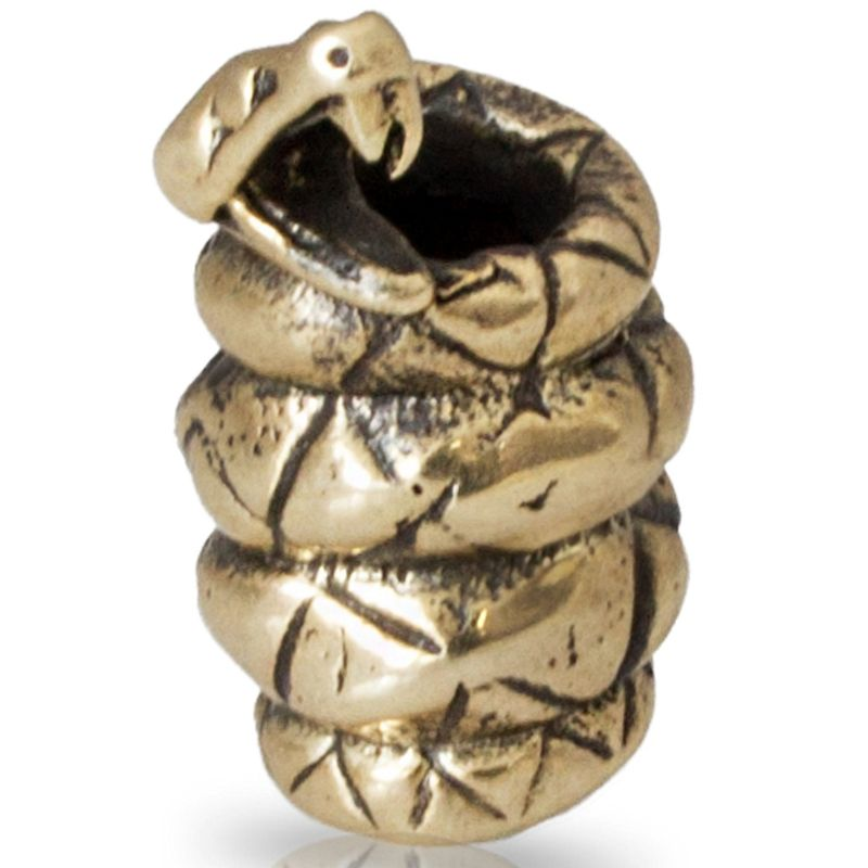 Black Mamba Snake in Brass by Russki Designs