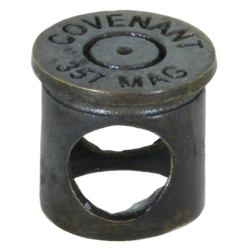 .357 Mag Bullet Shell Spacer Bead in Brass With Black Patina by Covenant Everyday Gear