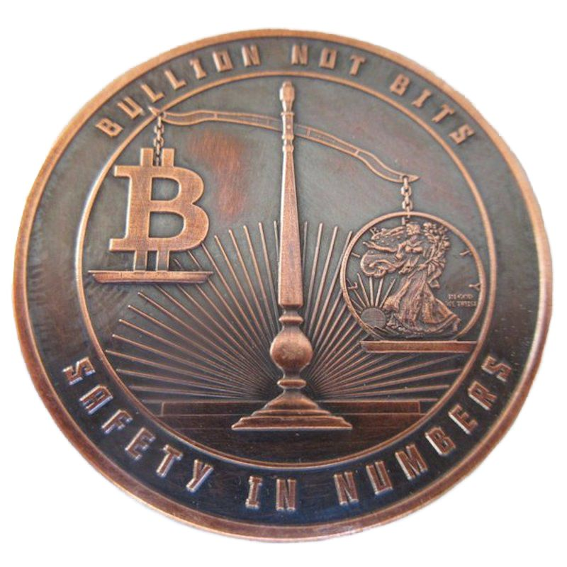 Bullion Not Bits 1 oz .999 Pure Copper Round (Black Patina)