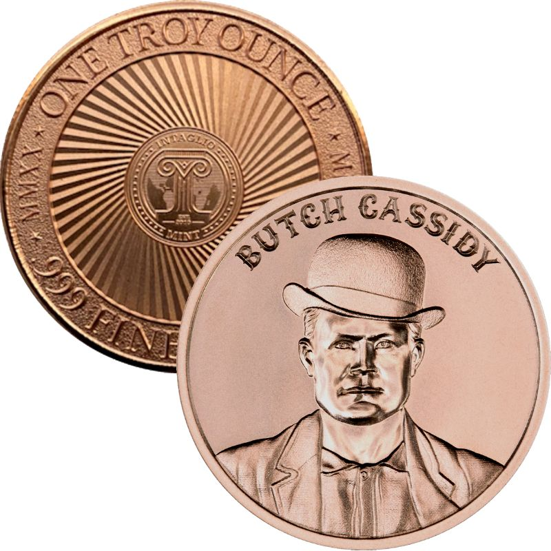 Butch Cassidy ~ (2020 Reverse) ~ 1 oz .999 Pure Copper Round